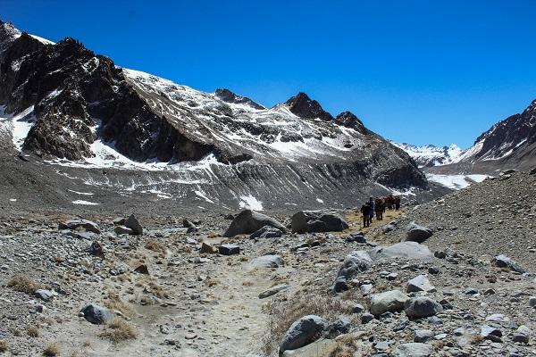 primera etapa para llegar al glaciar universidad